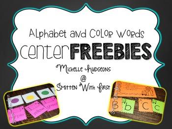 Back to School Centers FREEBIE {alphabet & color words}