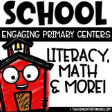 Back to School Centers | Back to School Activities | Math & Literacy Centers