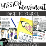 Back to School Activities Centers {Mission Movement: Back