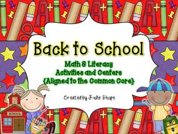 Back to School {Centers, Printables & Craftivities Aligned