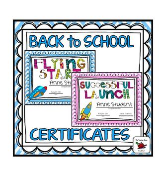 Back to School Certificates (Customizable/Editable)
