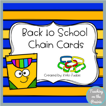 Back to School Chain Cards