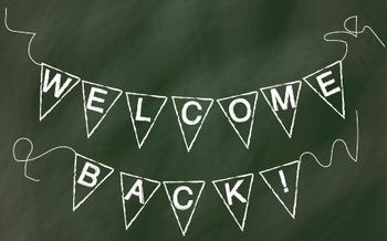 Back to School Chalk Pendant Banner