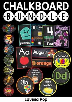 Back to School Chalkboard Classroom Decor BUNDLE SAMPLER