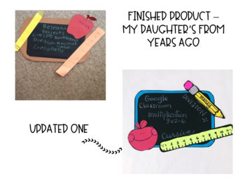 Back to School Chalkboard Craftivity