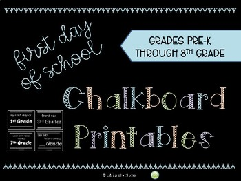 back to school chalkboard signs