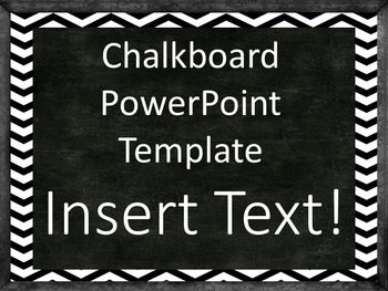 Back to School Chalkboard with Chevron PowerPoint Template