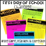 Back to School Challenge: A First Day of School Activity
