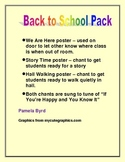 Back to School Chants and Posters