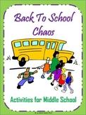 First Week of School (Back to School Ideas) - Middle School Activities