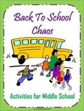 First Week of School (Back to School Ideas) - Middle Schoo