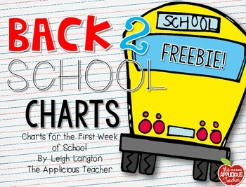 Back to School Charts FREEBIE