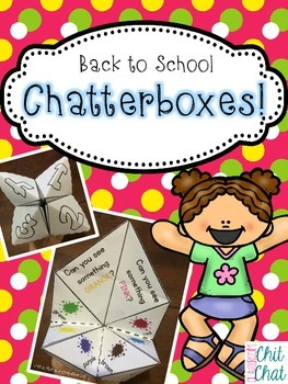Back to School Chatterboxes/Cootie Catchers