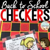Back to School Checkers Game | Getting to Know You Activity