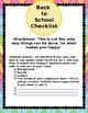 Back to School Checklist (Editable)