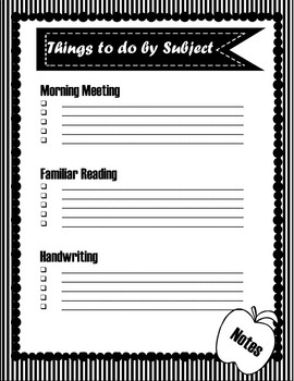 Back to School Checklist Editable