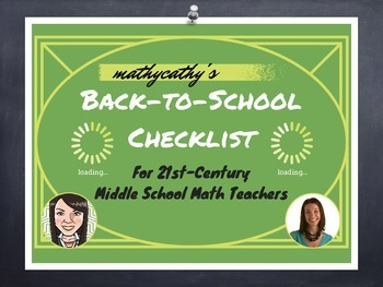 Back to School Checklist and Resources!