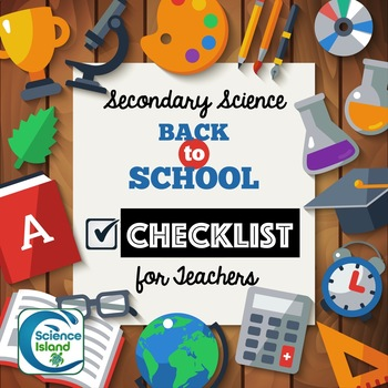 Back-to-School Checklist for Secondary Science Teachers