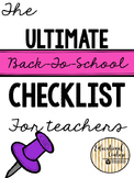 Back-to-School Checklist for Teachers