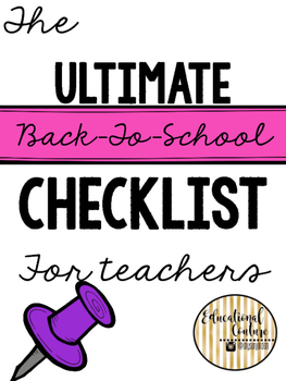 Back-to-School Checklist for Teachers