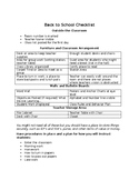 Back to School Checklist for Teachers