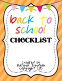 Back to School Checklists - Editable
