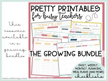 Back to School Checklists for Teachers Printables Pretty Paper