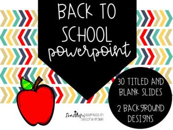 Back to School Chevron Powerpoint