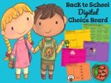 Back to School Choice Board - DIGITAL Version!