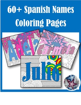 50% offChoose Your Spanish Name 60+ Coloring Pages Back to School GROWING BUNDLE