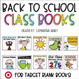 Back to School Class Books