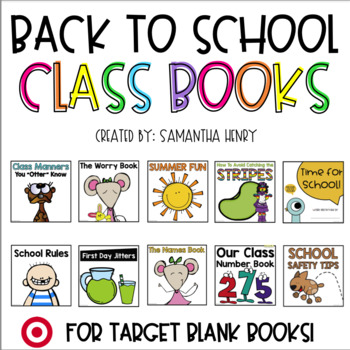 Back to School Class Books | Distance Learning Compatible
