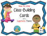 Back to School Kagan Classbuilding Activity Cards with a Superhero Theme