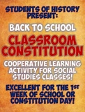 Constitution Day Class Constitution Group Project