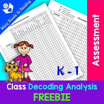 Class Decoding Chart: K-1 FREEBIE