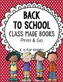 Back to School - Class Made Books