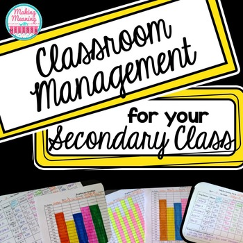 Back to School Class Management and Organization for Middle and High School