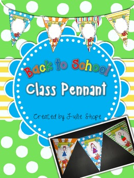 Back to School Class Pennant Activity