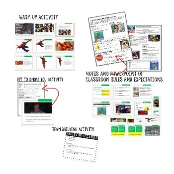 Back to School Class Procedures and Expectations Activities and Notes (Editable)
