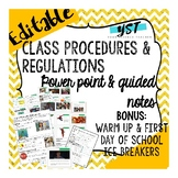 Back to School Class Procedures and Expectations Activitie