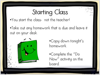 Back to School Class Procedures and Expectations PowerPoint {FULLY EDITABLE}