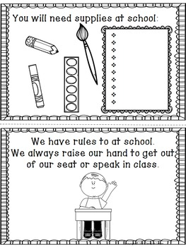 Back to School Class Rules and Introduction Coloring Book - 2-3