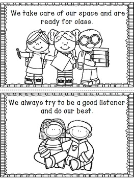 Back to School Class Rules and Introduction Coloring Book - K-1