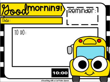 School Theme Class Slides Editable with Timers Freebie for Back to School