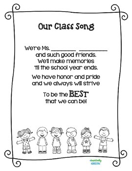Back to School Class Song