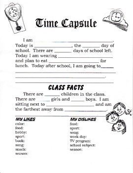 Back to School Class Time Capsule