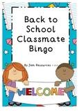 Back to School Classmate Bingo
