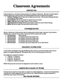 Back to School Classroom Agreement