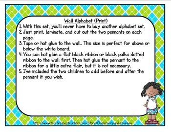 Back to School Classroom Alphabet