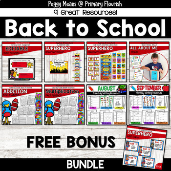 Back-to-School Activities BUNDLE